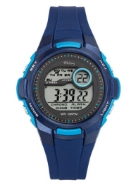 Tekday 653966 digitaal horloge 38 mm 100 meter blauw