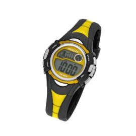 Nowley 8-6145-0-4 digitaal horloge 36 mm 100 meter zwart/ geel