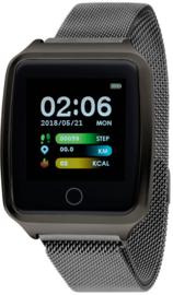 Nowley 21-2028-0-2 smartwatch 37x45 mm zwart incl. zwart stalen band