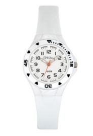 Tekday 653637 analoog horloge 30 mm 100 meter wit