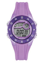 Tekday 653964 digitaal horloge 35 mm 100 meter paars