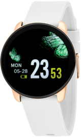 Nowley 21-2034-0-4 smartwatch 40 mm rosé incl. witte siliconen band