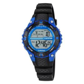 Calypso K5684/5 digitaal horloge 37 mm 100 meter zwart/ blauw