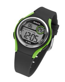 Sinar XE-64-3 digitaal horloge 36 mm 100 meter zwart/ groen
