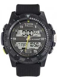 All Blacks 680326 analoog/ digitaal horloge 48 mm 100 meter zwart