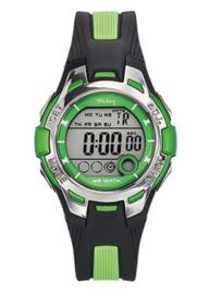 Tekday 653943 digitaal horloge 37 mm 100 meter zwart/groen
