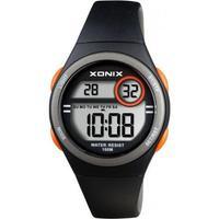 Xonix BAH-007 digitaal horloge 34 mm 100 meter zwart/ oranje