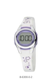 Nowley 8-6300-0-2 digitaal horloge 28 mm 100 wit/ paars