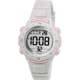 Xonix BAD-002 digitaal horloge 33 mm 100 meter grijs/ roze