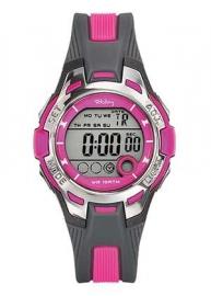 Tekday 653941 digitaal horloge 37 mm 100 meter grijs/ roze