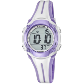 Calypso K5682/7 digitaal horloge 35 mm 100 meter roze/ paars
