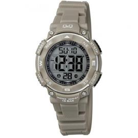 Q&Q M149J010 digitaal horloge 36 mm 100 meter grijs