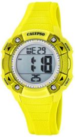 Calypso K5728/1 digitaal horloge 38 mm 100 meter geel