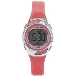 Coolwatch CW.348 digitaal horloge 29 mm 100 meter roze/ zilver