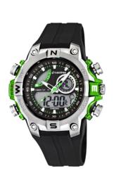 Calypso K5586/3 analoog/ digitaal horloge 46 mm 100 meter zwart/ groen