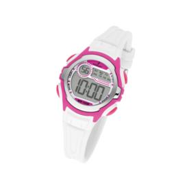 Nowley 8-6229-0-1 digitaal horloge 34 mm 100 meter wit/ roze