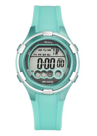 Tekday 653859 digitaal horloge 100 meter turquoise