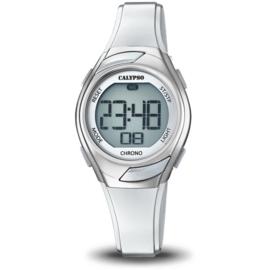 Calypso K5738/1 digitaal horloge 30 mm 100 meter grijs/ zilver