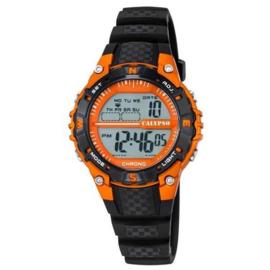 Calypso K5684/7 digitaal horloge 37 mm 100 meter zwart/ oranje