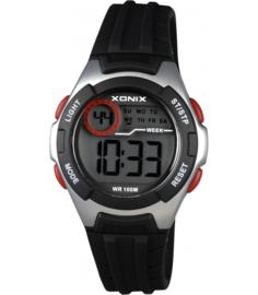 Xonix IN-007 digitaal horloge 34 mm 100 meter zwart/ zilverkleur