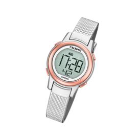 Calypso K5736/2 digitaal horloge 30 mm 100 meter grijs/ rosé