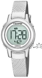 Calypso K5736/1 digitaal horloge 30 mm 100 meter grijs/ zilver