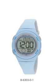 Nowley 8-6303-0-1 digitaal horloge 34 mm 100 meter blauw/ grijs