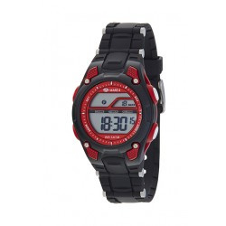 Marea B44097/1 digitaal horloge 36 mm 50 meter zwart/ rood