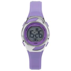 Coolwatch CW.347 digitaal horloge 29 mm 100 meter paars/ zilver