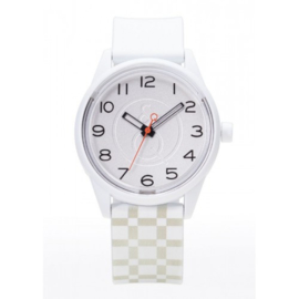 Q&Q RP00J051Y Smile Solar horloge 40 mm 50 meter wit/ grijs