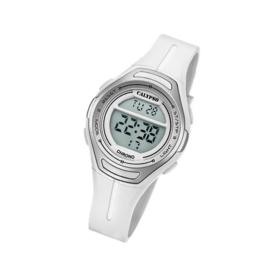 Calypso K5727/1 digitaal horloge 34 mm 100 meter wit/ grijs