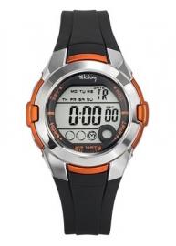 Tekday 653876 digitaal horloge 38 mm 100 meter zwart/ oranje
