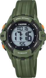 Calypso K5740/5 digitaal horloge 38 mm 100 meter groen