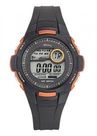 Tekday 653968 digitaal horloge 38 mm 100 meter zwart/ oranje