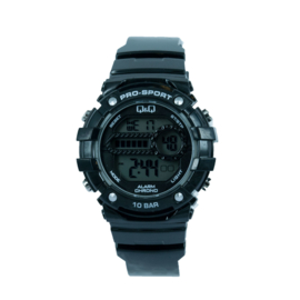 Q&Q M154J002 digitaal horloge 40 mm 100 meter zwart