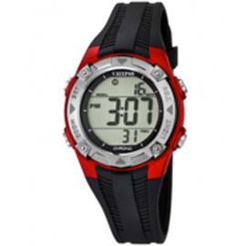 Calypso K5685/6 digitaal horloge 37 mm 100 meter zwart/ rood