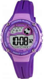 Xonix IT-005 digitaal horloge 32 mm 100 meter paars