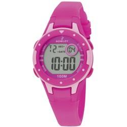 Nowley 8-6243-0-4 digitaal horloge 32 mm 100 meter roze
