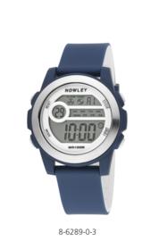Nowley 8-6289-0-3 digitaal horloge 41 mm 100 meter blauw/ wit