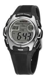 Sinar XE-50-1 digitaal horloge 38 mm 100 meter zwart/ grijs