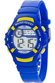 Marea B25132/3 digitaal horloge 36 mm 100 meter blauw/ geel