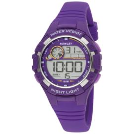 Nowley 8-6241-0-6 digitaal horloge 38 mm 100 meter paars