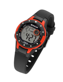 Sinar XE-52-4 digitaal horloge 32 mm 100 meter zwart/ rood