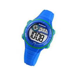 Xonix BAI-004 digitaal horloge 32 mm 100 meter blauw/ groen