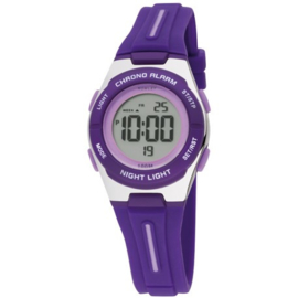 Nowley 8-6260-0-2 digitaal horloge 30 mm 100 meter paars/ zilverkleur