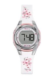 Tekday 653608 digitaal horloge 27 mm 50 meter wit/ roze