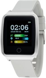 Nowley 21-2029-0-2 smartwatch 37x45 mm zilverkleurig incl. grijze siliconen band