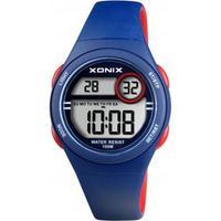 Xonix BAH-006 digitaal horloge 34 mm 100 meter blauw/ rood