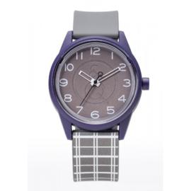 Q&Q RP00J052Y Smile Solar horloge 40 mm 50 meter grijs/ paars