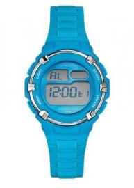 Tekday 653800 digitaal horloge 34 mm 100 meter blauw/ grijs